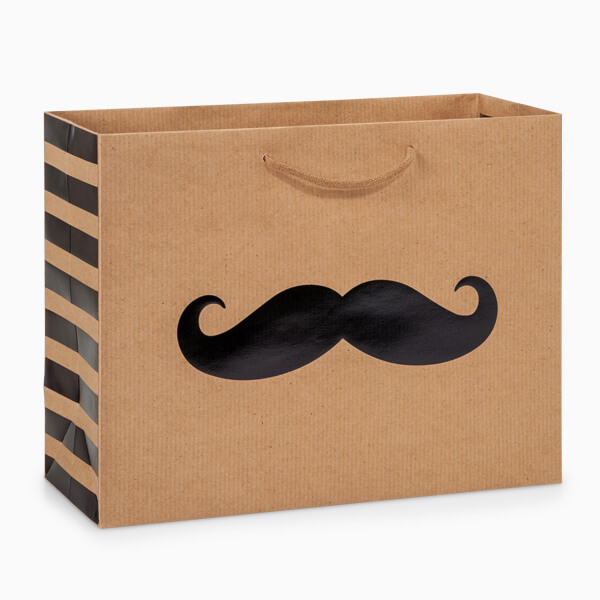 Mustache Father's Day Bag from Nashville Wraps