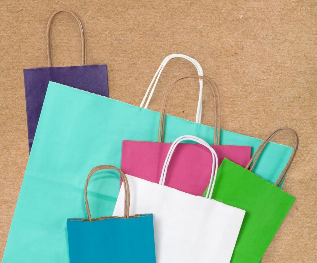 basic bright shopping bags