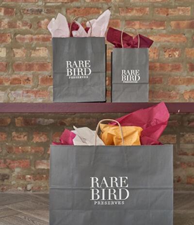 custom printed bags rare bird