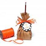 Halloween witch's broom treat bags